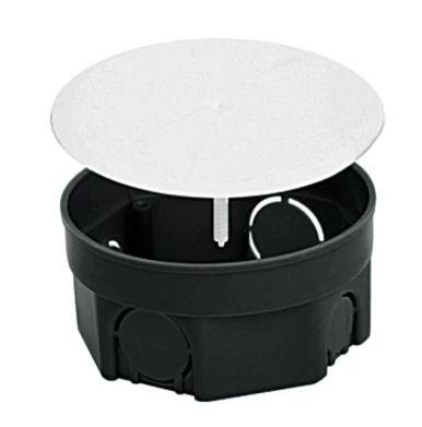 Коробка расп D97*50 для твердых стен с крышкой U-Plast 010-005