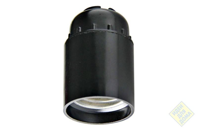 Патрон Е27 карболит.подвесной чёрн.М10 4А 250В (№3 Н10) Универсал