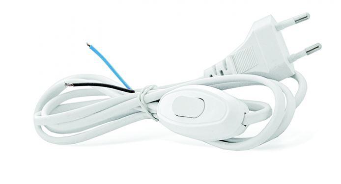 Шнур для бра с прох.выкл.бел. 1,7м ШВВП 2*0,75 UNIVersal A1060