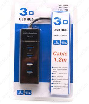 Хаб USB XL5066 на 4 порта черный