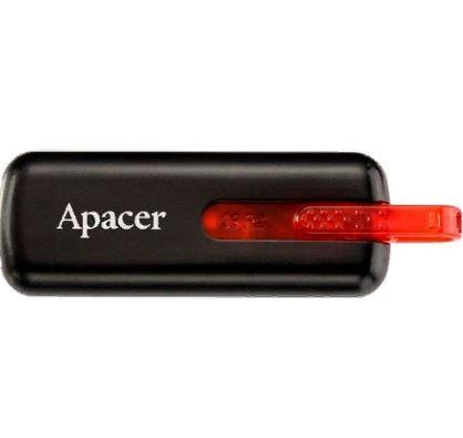Флеш-карта APACER 64GB AH326 USB 2.0 черная выдвиж. AP64GAH326B-1