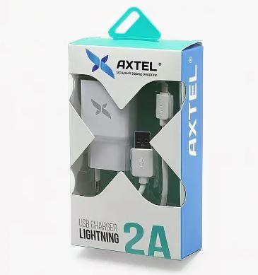 СЗУ AXTEL USB + кабель Lightning 2A