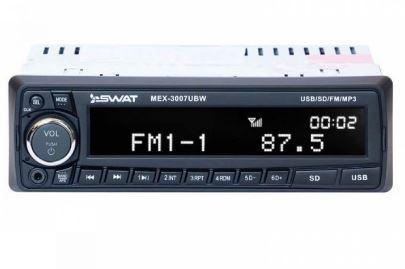 Автомагнитола SWAT MEX-3007UBW (б/диск. медиаресивер 4*50Вт MP3. USB. SD. память на 18Fm