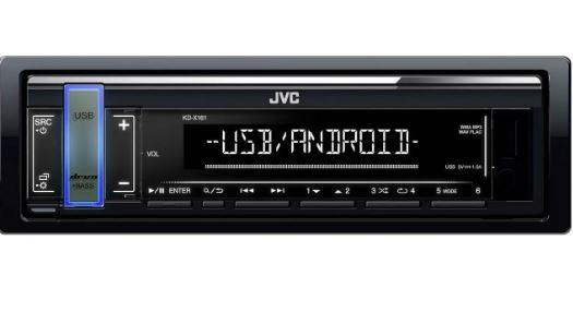 Автомагнитола JVC KD-X161 1DIN 4/45Вт
