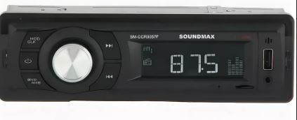 Автомагнитола SOUNDMAX SM-CCR3056F 1DIN 4*40Вт