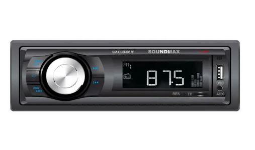 Автомагнитола SOUNDMAX SM-CCR3057F 1DIN 4*40Вт