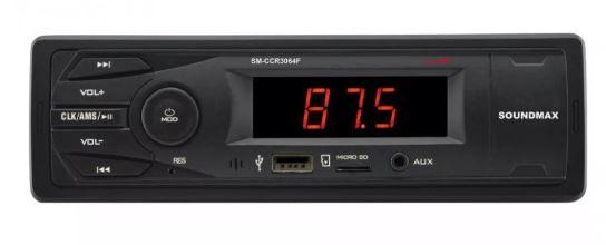 Автомагнитола SOUNDMAX SM-CCR3064F 1DIN 4*40Вт