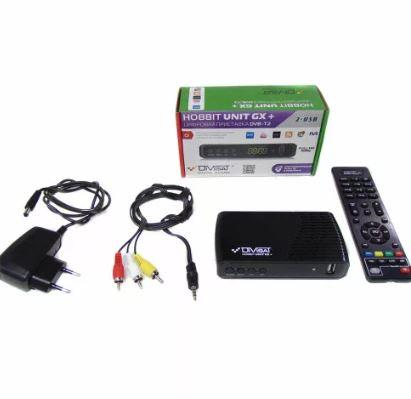 Цифровой эфирный приемник HOBBIT UNIT GX+universal RCU DVS+T2+C