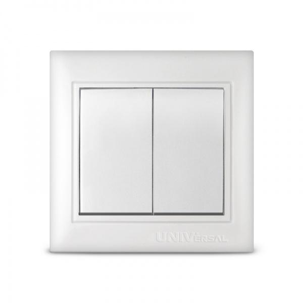 Выключатель 2кл. бел. Севиль СП. 10A 220B (C0023) (3/10/100/200)