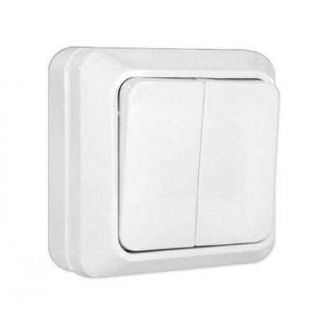 Выключатель 2кл. бел. Олимп ОП. 10A 220B (О0023) (3/10/200)