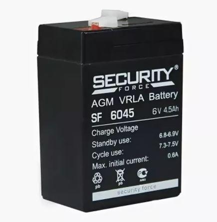 Аккумулятор Security Force SF 6045 6V 4.5Ah свинцово-кисллот.