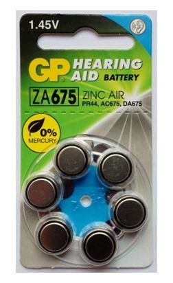 GP ZA-675 для слуховых аппаратов/6шт в коробочке