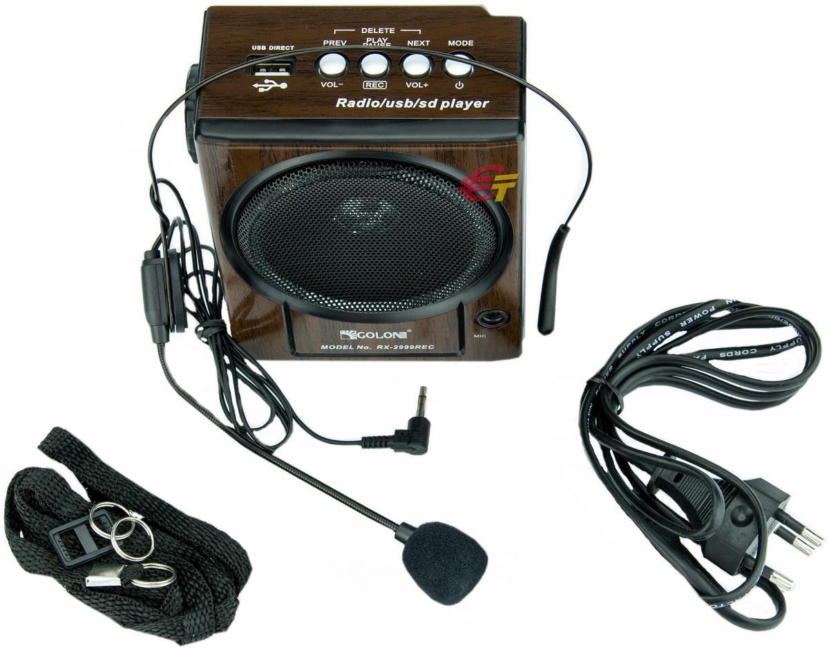 Радиоприемник GOLON RX-2999REC +USB+фонарик