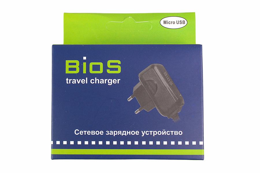 СЗУ BIOS для mini USB 650mAh черное