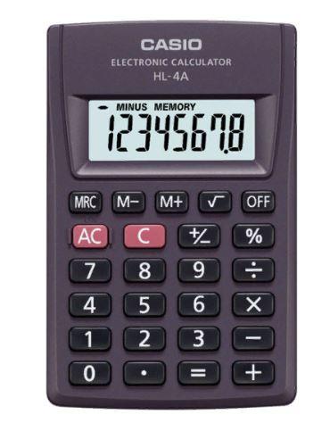 Калькулятор CASIO HL-4A   карманный 8 разрядов