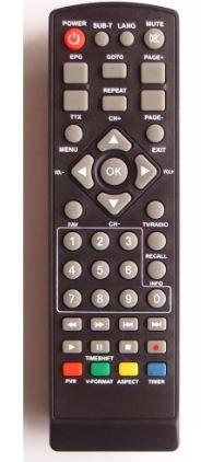 Пульт для приставки Selenga HD-920 VAR2 (00FF-59) dexp dvb-t2 HD1810P, HD1813P  техпак
