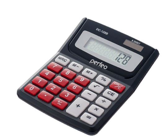 Калькулятор PERFEO PF-3285 карманный 8-разряд. черный