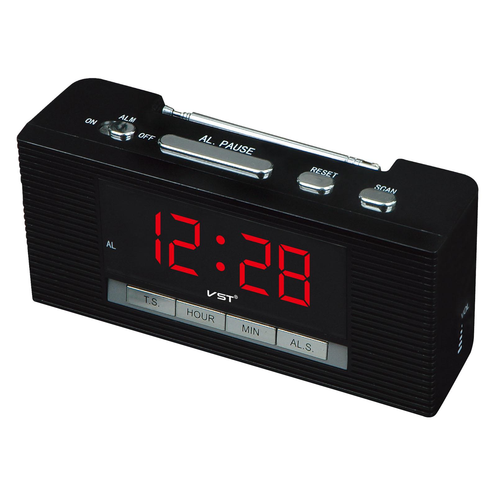 Часы настольные+радио VST-741/5 (ярко-синий) 1 сорт