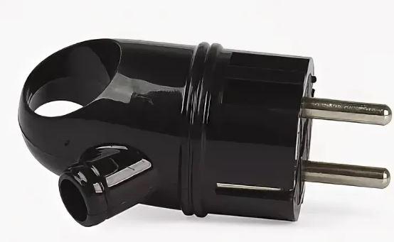 Вилка с/з SMART BUY 16A 250B (АБС-пластик, угловая с ушком) SBE-16-P03