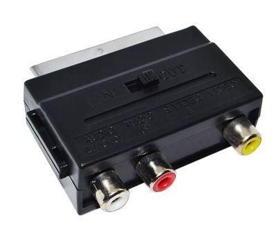 Переходник PERFEO SCART - 3 RCA (вход-выход) JETT