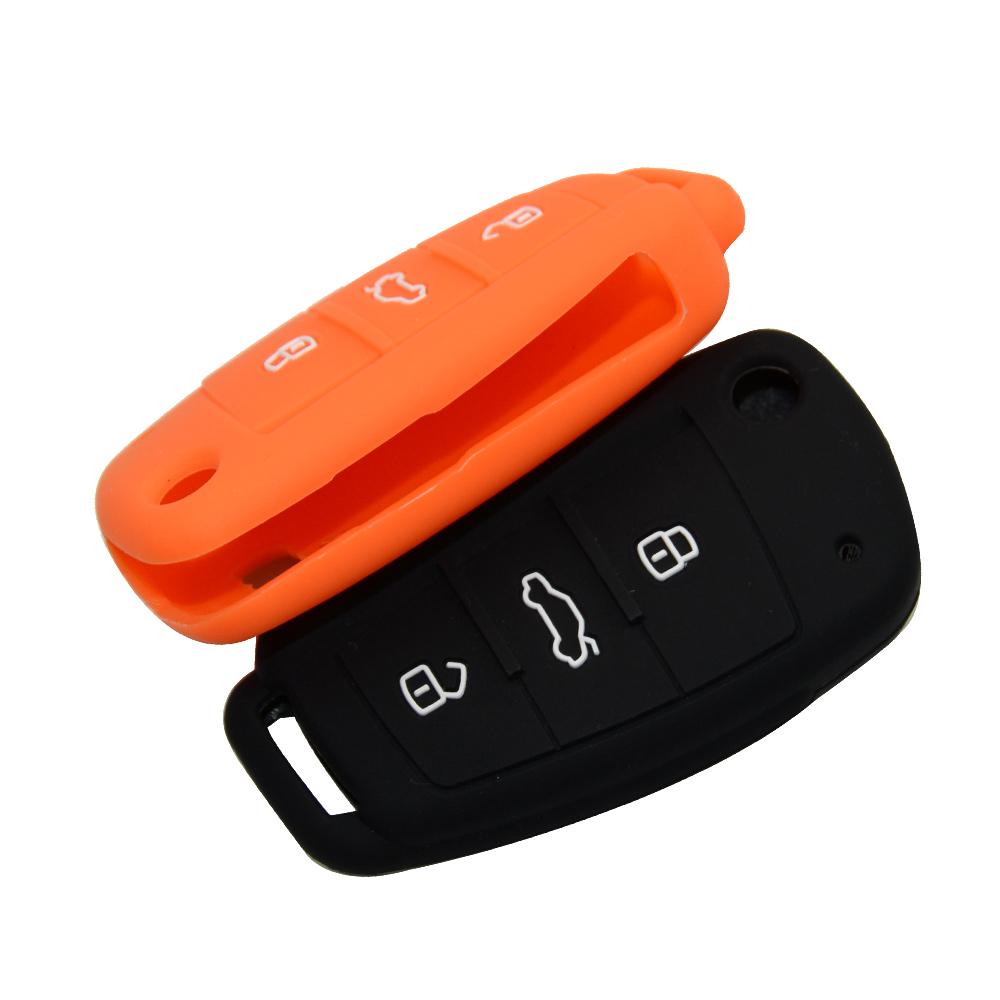Чехол силиконовый для ключа зажигания AUDI Folding A6, Q7, TT