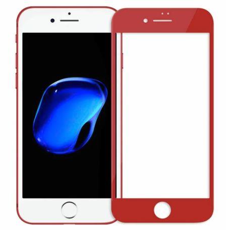 Защитное стекло для iiPhone 7/8 Plus 5D красное техпак