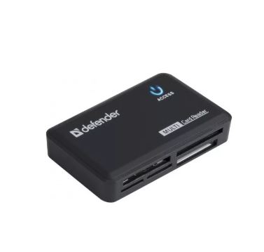 Картридер DEFENDER OPTIMUS USB 2.0 универс. черный