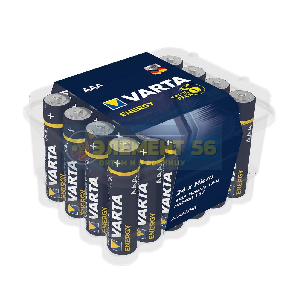 VARTA ENERGY ALKALINE BIG BOX LR03, AAA, MN2400, А286, 24A, AM4, UM4, HP16 24BOX (24) (288)