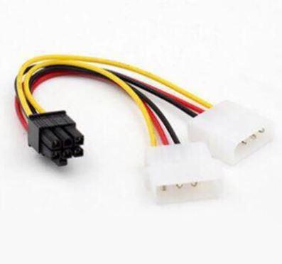 Переходник EXEGATE MOLEX 2 - PCI -E 6 pin 0.15м