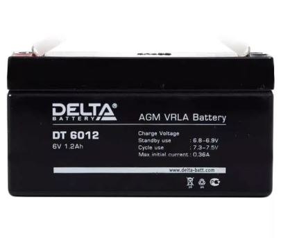 Аккумулятор DELTA DT 6012 6V 1.2Ah свинцово-кисллот.
