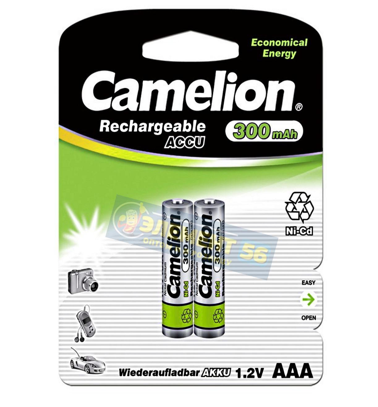 Аккумулятор CAMELION AAA, KR03 (300 mAh) MN2400, А286, 24A, AM4, UM4, HP16 2BL (2) (24) (480)
