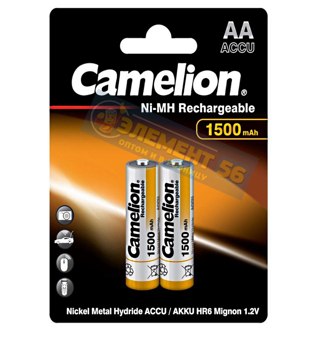 Аккумулятор CAMELION AA, HR6 (1500 mAh) MN1500, А316 2BL (2) (24) (384)