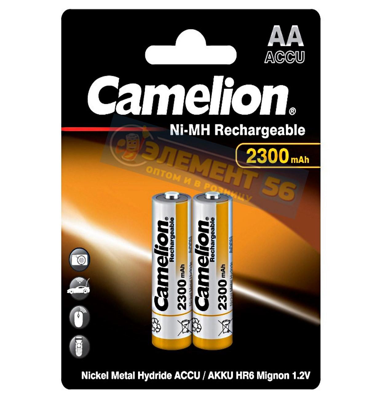 Аккумулятор CAMELION AA, HR6 (2300 mAh) MN1500, А316 2BL (2) (24) (384)