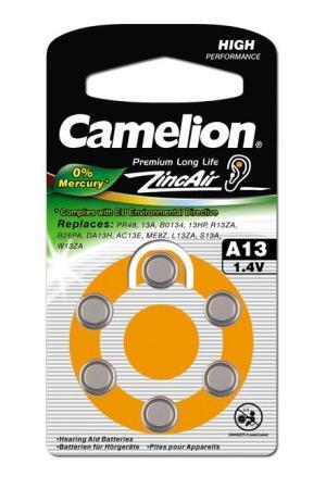 CAMELION ZA13 6BL 1.4V 280mAh для слуховых аппаратов