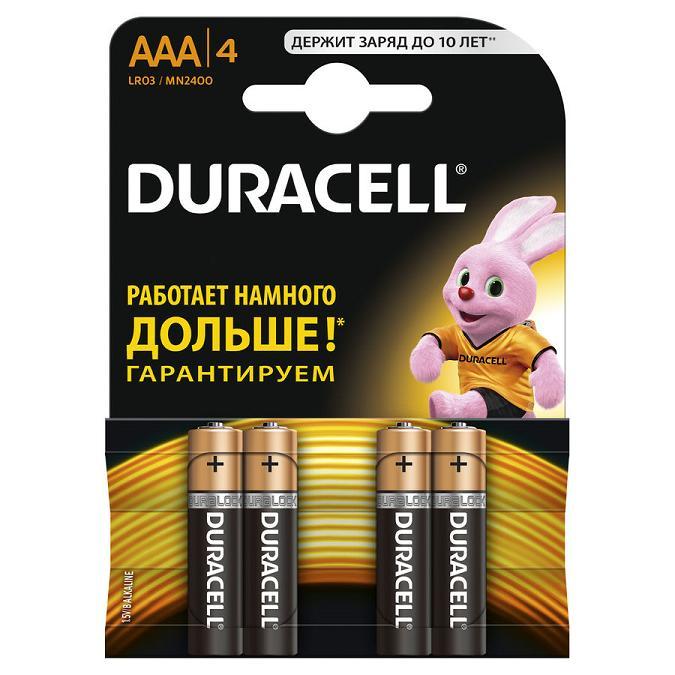 DURACELL LR 03  4BL NEW BASIC
