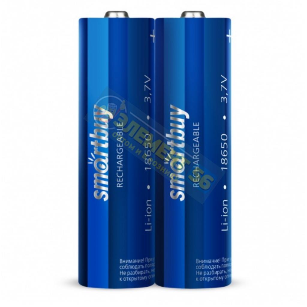 Аккумулятор SMARTBUY ICR 18650 (2000 mAh 4 A) LiCoO2, NCR, ICR Li-lon без защиты