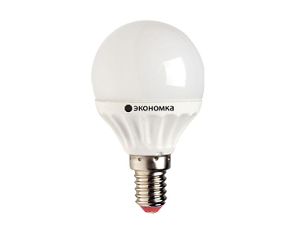Лампа ЭКОНОМКА LED 7Вт Шарик 45мм E14 (теплый свет)
