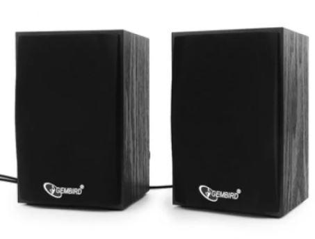 Колонки для компьютера 2.0 GEMBIRD SPK-201 Черный 2х2.5 Вт USB