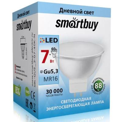 Лампа Smart Buy Светодиодная GU5.3 7W 6000 220V аналог галоген