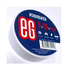 Изолента 0,13*15 мм 5м белый ЕВРОГАРАНТ