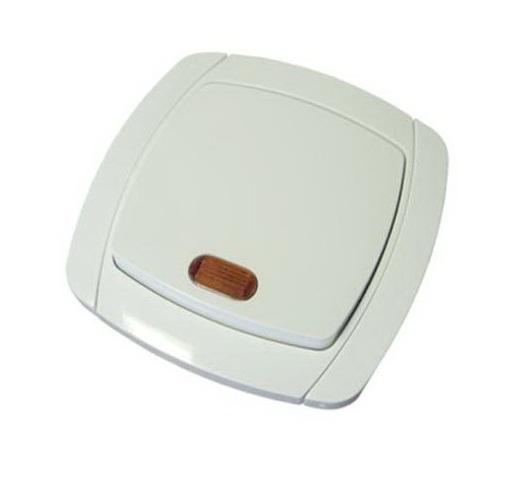 Выключатель 1кл. бел.с подсв. Севиль СП. 10A 220B (C0121) (3/10/100/200)