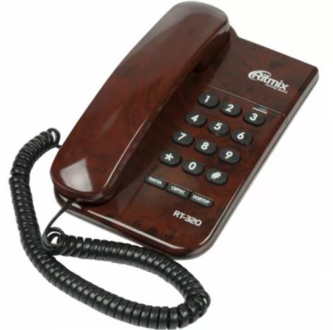 Телефон проводной RITMIX RT-320 Coffee marble