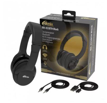 Наушники RITMIX RH-455BTH полноразмерные Bluetooth черные