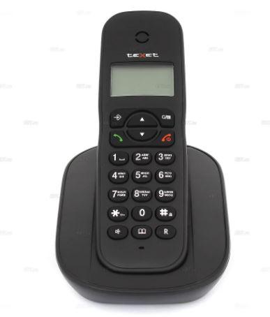 Радиотелефон проводной TEXET TX-D4505A. черный