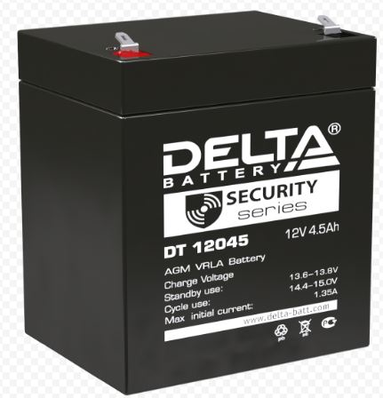 Аккумулятор DELTA DT 12045 12V 4.5Ah свинцово-кисллот.