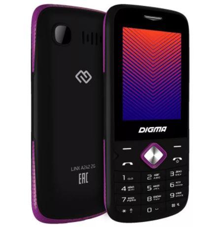 """Телефон DIGMA A241 Linx 32Mb моноблок, черный 2.44"""""""