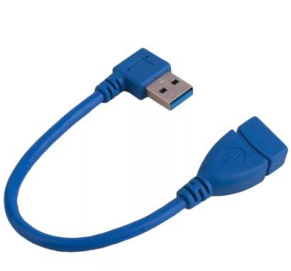 Кабель переходник Орбита BS-429 USB 3.0  штекер угловой USB - гнездо USB