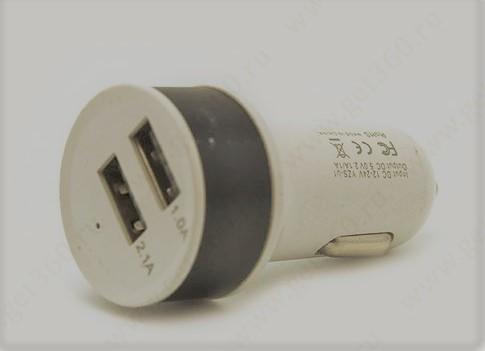 АЗУ USB адаптер KO6 без упаковки белый/черный