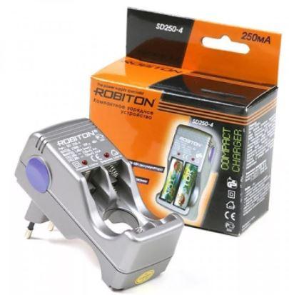 З.У. ROBITON SD250-4 сетевое для аккумуляторов (AA/R6 и AAA/R3)