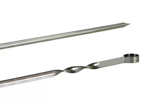 Шампур угловой 500*10 (1мм) нерж. сталь Бастион-Пром